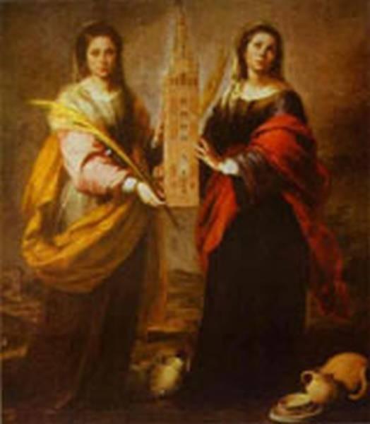 st justa and st rufina 1665 1666 XX museum of fine arts sevilla spain